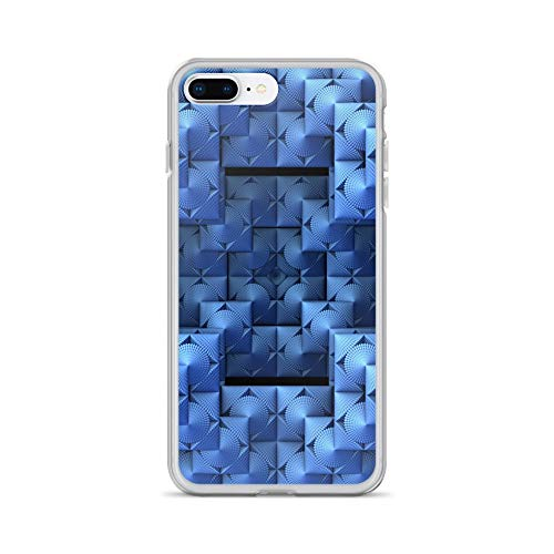 iPhone 7 Plus/8 Plus Case Anti-Scratch Gamer Video Game Transparent Cases Cover Blue World Order Gaming Computer Crystal Clear