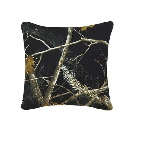 Realtree AP Black Square Pillow