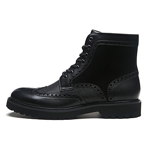 La Milano Men's Leather Winter Boots Wingtip Lace Up