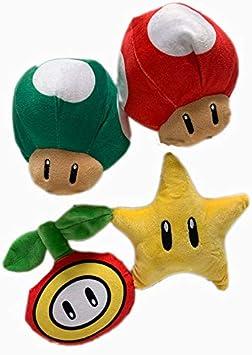 Super Mario Super Mushroom 4-Inch Plush Keychain