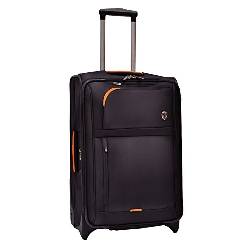 Traveler's Choice  Birmingham Lightweight Expandable Rugged Rollaboard Rolling Luggage - Black (25-Inch)