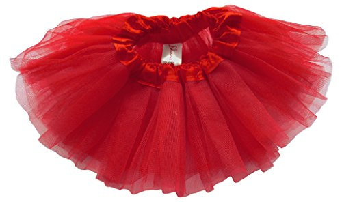 [Dancina Tutu Pretty Cake Smash Gender Announcement Photography Prop Outfit 0-5 months Cardinal Red] (Minnie Mouse Outfit For Babies)