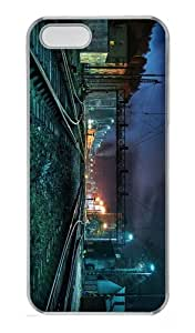 customized cases Creepy Train Station PC Transparent Case for iphone 5/5S