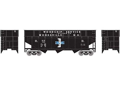 (Athearn ATH6585 N 40' Wood Chip Hopper w/Load, B&M #7509)