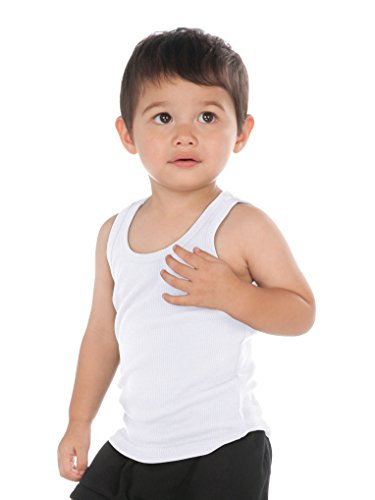 Ribbed Infant Tank Top - Kavio! Unisex Infants Beater Tank (Same I2Y0514) White 18M