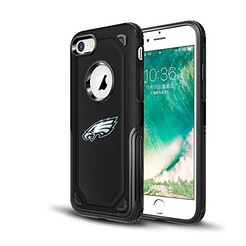 (Eagles iPhone 7 Tough Electroplate Case, 3 in 1 Ultra-thin Smooth Anti-Scratch PC Hard Back Case Full Cover for iPhone 7- Black)