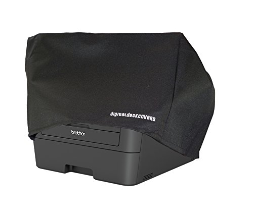 Brother MFC-L2700DW / MFC-L2720DW / MFC-L2740DW / MFC-L2750DW / DCP-L2540DW / MFC-7860DW Printer Dust Cover and Protector [Antistatic, Water Resistant, Heavy Duty Fabric, Black] by DigitalDeckCovers
