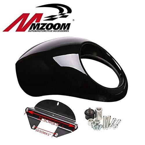 Wincom ディッシュマン 自動車&オートバイ ムズーム ブラック ヘッドライト プラスチック フロントバイザー フェアリングクールマスク ベゼル 883 Xl1200 ダイナスポーツスター Fx オートバイ用  ライト(Light) B07JZB9VJR