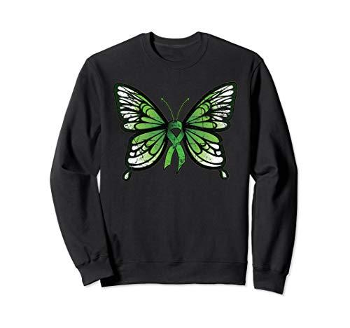 Mental Health Awareness Green Ribbon Butterfly Sweatshirt