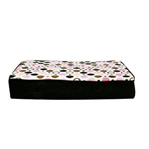 Spoiled Rotten Classic Collection 80518 Pet Mattress, Chocolate Velvet/Spaceballs Pink, Small