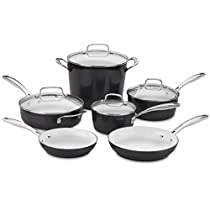 Cuisinart Elements 10piece Ceramica Polar White Non Stick cookware
