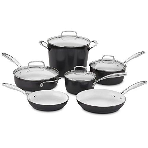 Cuisinart Elements® 10piece Ceramica® Polar White Non Stick cookware