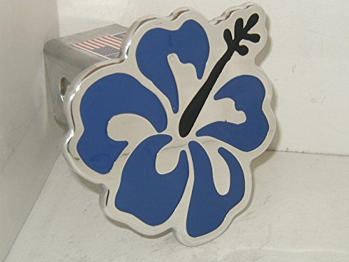 Hibiscus Hitch Cover Flower Hitchcover Blue ()