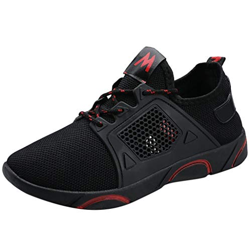 Emimarol Women Sport Shoes Mesh Breathable Casual Sneakers Students Running Shoes Red
