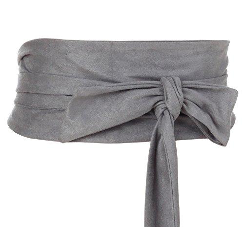Shengweiao Women's Self Tie Wrap Around Obi Waist Band Cinch Boho Belt -