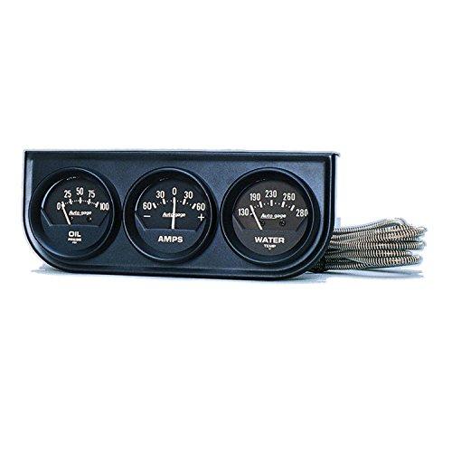 Auto Meter 2347 Autogage Black Console Oil/Amp/Water Gauge ()