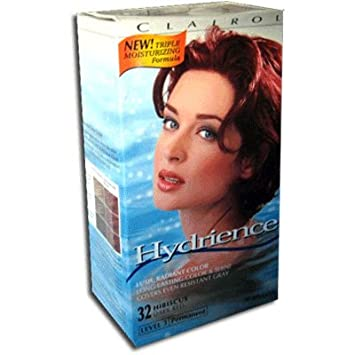 Amazoncom Clairol Hydrience Hibiscus Dark Red Hair Color 32
