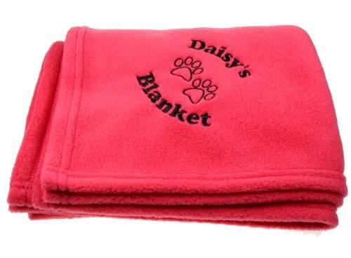 Personalised Luxury Black Pet Blanket, Soft Fleece Black Blanket, Embroidered Pet Blanket Personalised Gift Ideas