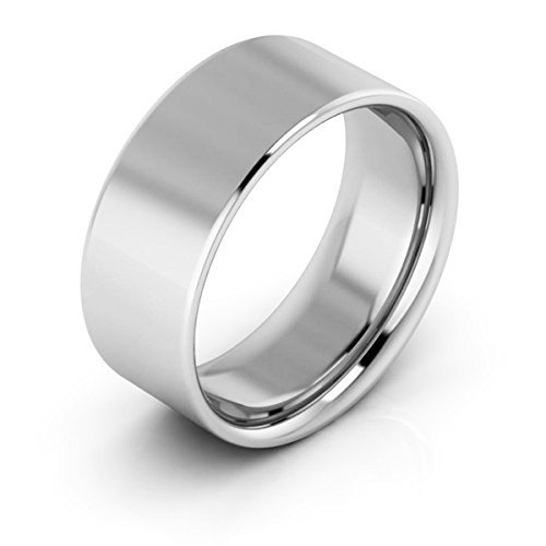 Platinum men's and women's plain wedding bands 8mm flat comfort fit, 12.5 by i Wedding Band