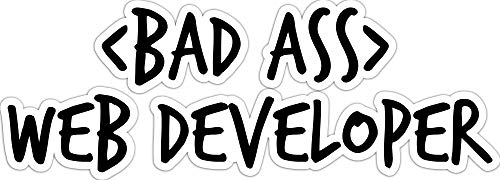 4 All Times Bad Ass Web Developer Automotive Car Decal for Cars, Trucks, Laptops (18.0