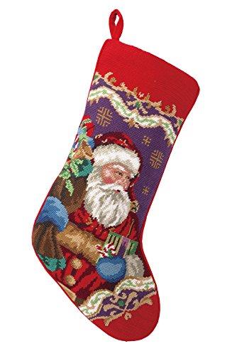 Peking Handicraft 31SJM4512MC Christmas Santa Needlepoint Stocking, 11 x 18
