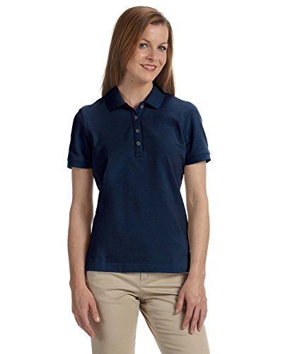 - Women's Slim-cut Ashworth Classic Solid Pique Polo, Navy, S