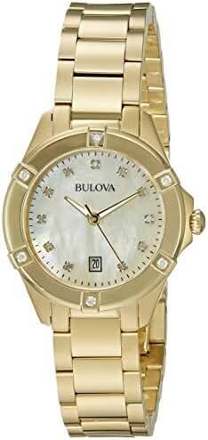 Bulova 97R100 13mm Gold Tone Stainless Steel Gold Watch Bracelet