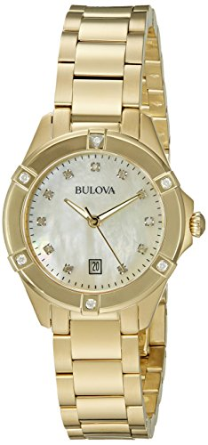 Bulova 97R100 13mm Gold Tone Stainless Steel Gold Watch Bracelet