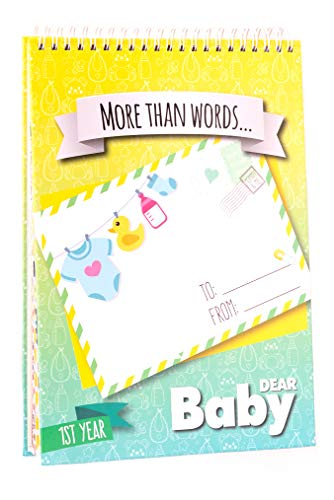 First Year Baby Memory Book: Letters to My Baby - Write Now. Paste Photos. - Beautiful Baby Shower Gifts - Pregnancy Gifts for First Time Moms | +200 Baby Monthly Stickers & Love Quotes