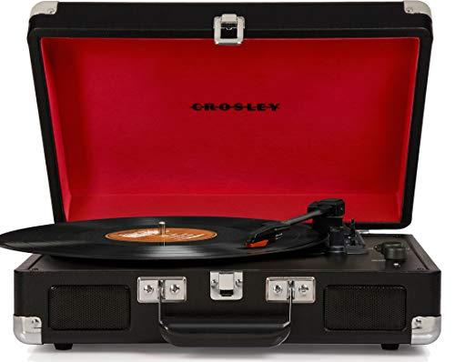 Crosley Cruiser Deluxe Vintage 3 سرعته چمدان بلوتوث ، سیاه و سفید
