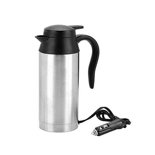 41gNLCo382L 750ml Auto Elektrische Wasserkocher,Edelstahl 24V Zigarettenanzünder Thermobecher Wasserbecher für Wasser Kaffee…