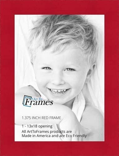 2WOM0066-81792-YRED-23x35 ArtToFrames 23x35 inch Red Stain on Beech Wood Picture Frame