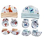 MY NEWBORN Baby Mitten Gloves Cap and Booty Set – Pack of 3