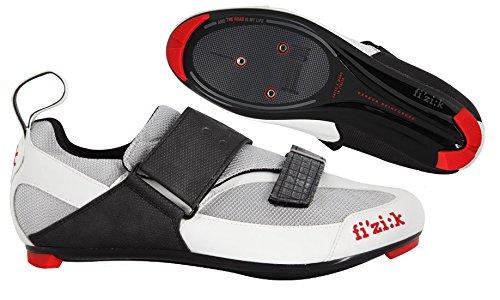 Buty triathlonowe FIZIK K5 UOMO srebrno-białe roz.40