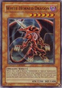 Yu-Gi-Oh! - White-Horned Dragon (GXNG-EN001) - GX Next Generation - Promo Edition - Ultra - Strong Wind