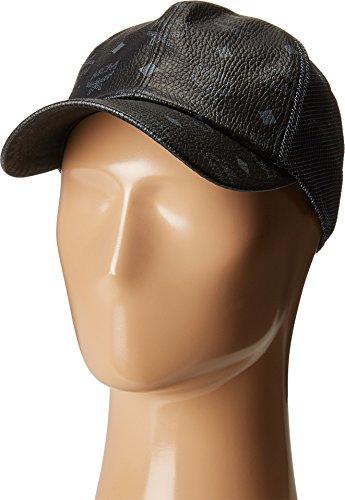 MCM Unisex Visetos Mesh Cap Black 1 Hat