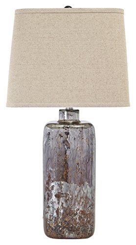Ashley Furniture Signature Design - Shanilly Contemporary Table Lamp - Mercury Glass - Abstract - Multicolored ()