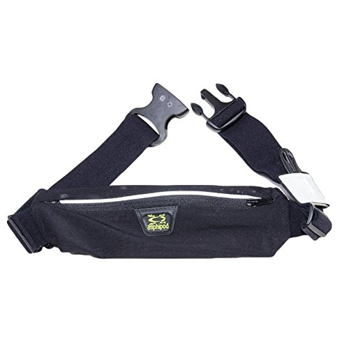 Amphipod Unisex AirFlow MicroStrech Plus Belt, Black, One Size