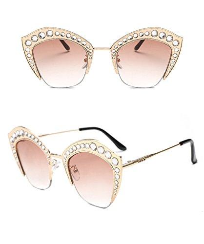 07e643aa96fac couleur Dames Coréennes 2 x498 Trend amp  2 Lunettes Sunglasses Ronde De  Soleil Protection Élégantes Personnalité ...
