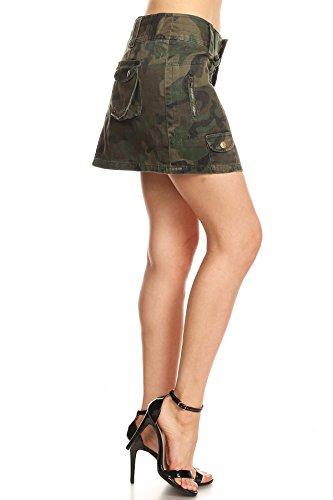 Rise Skirt Mini Low (Funteze Army Print Low Rise Mini Skirt (Small))