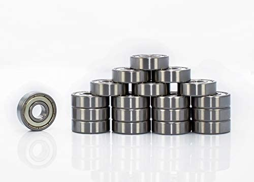 (20 PCS) 608 ZZ, 8x22x7, Skateboard,Inline Skates, Scooter, Motor Double Shielded, Miniature Chrome Ball Bearings