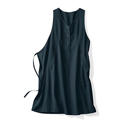 好き自宅で医師[ベルメゾン] 事務服にも!授乳対応 マタニティ ラップ ジャンパースカート 授乳服 ワンピース ブラック サイズ:マタニティM