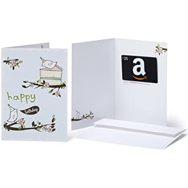 Amazon.com $25 Gift Card in a Greeting Card (Birthday Birds Design)