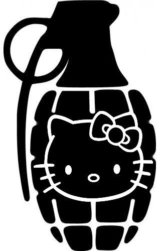 Hello Kitty Grenade PREMIUM Decal 5