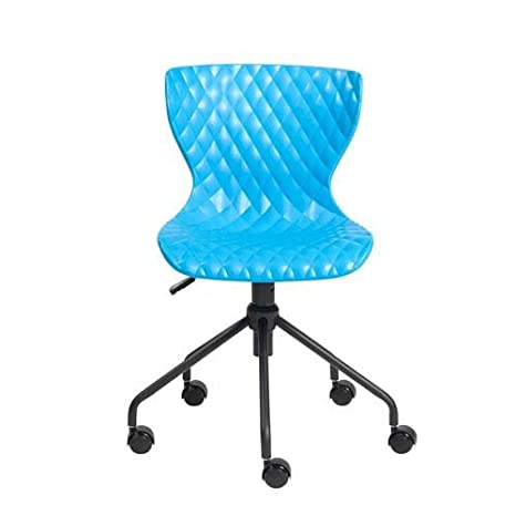 Fine Amazon Com Eurostyle Daly Office Chair In Blue Office Bralicious Painted Fabric Chair Ideas Braliciousco