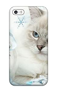 New Arrival Cat With Silver Ball For Iphone 5/5s Case Cover