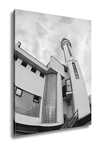 Ashley Canvas Modern Islamic Architecture Mosque, Wall Art Home Decor, Ready to Hang, Black/White, 20x16, AG5573476 by Ashley Canvas