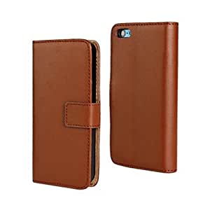 PIZU Leather Case Flip Cover Wallet Purse Flip Folio Stand for Apple Iphone 5C/Brown
