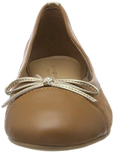 Brown 929 summer Hilfiger Ballet Suede Cognac Tommy Women''s Flats Ballerina Basic AqPaw67x