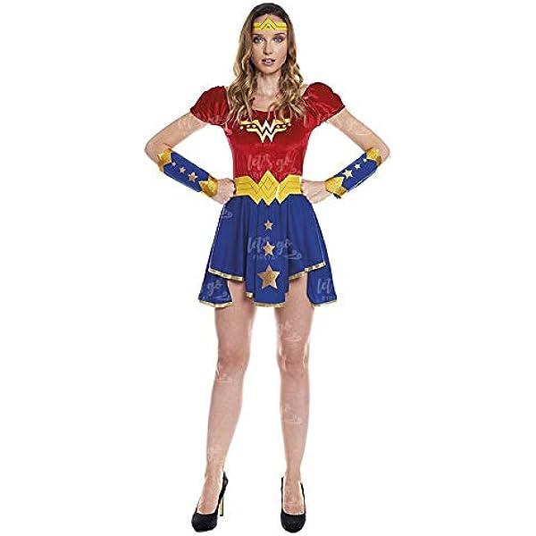 Disfraz Heroína Wonder Girl Mujer Disfraz Superhéroe Mujer (Talla ...